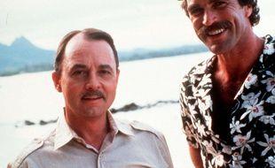 John_Hillerman aux côtés de Tom Selleck dans la série Magnum en 1980