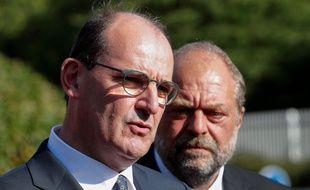 Le Premier ministre Jean Castex s'est rendu au tribunal de Bobigny avec Eric Dupond-Moretti mercredi 8 juillet 2020.