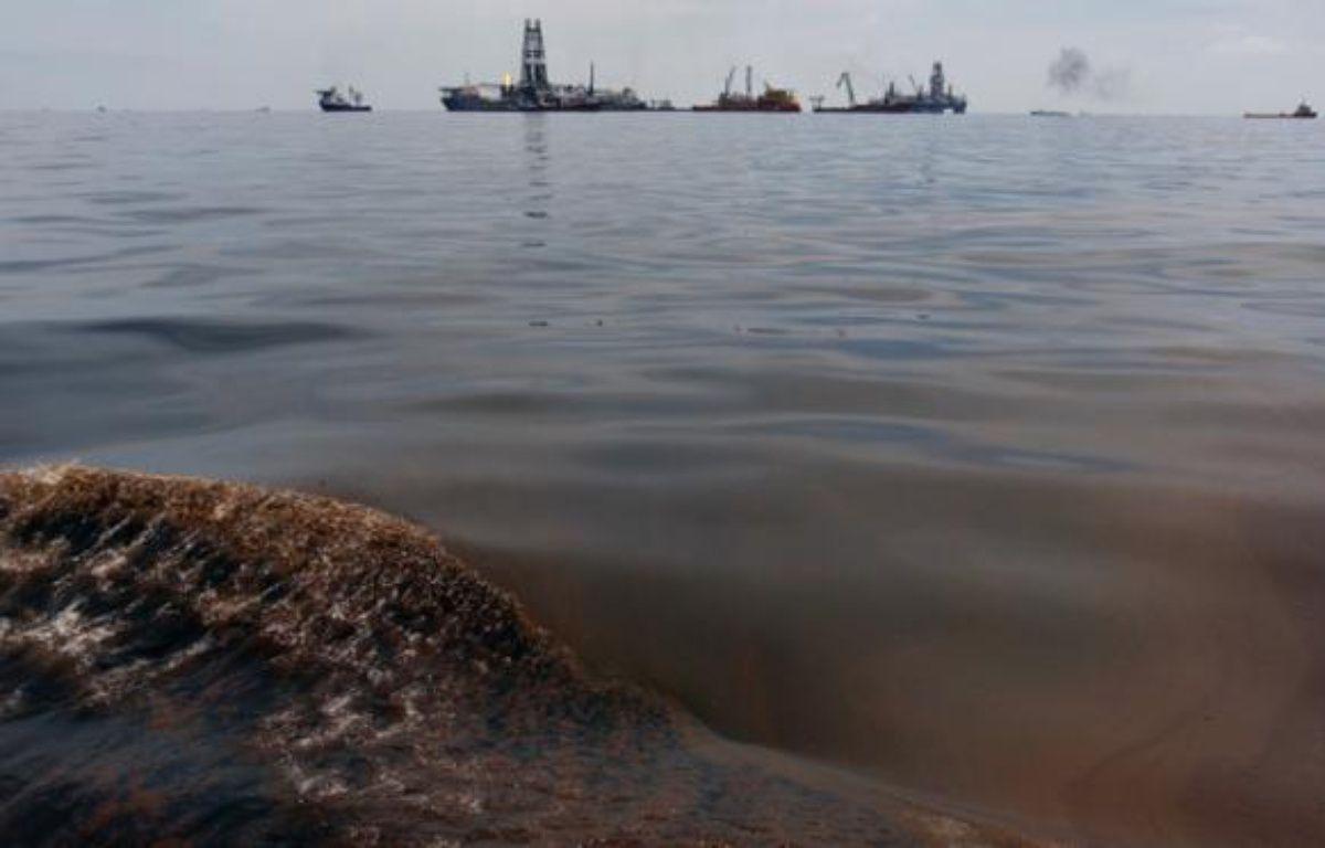 Du pétrole de la marée noire dans le Golfe du Mexique, mercredi 19 mai 2010. – Hans Deryk / Reuters