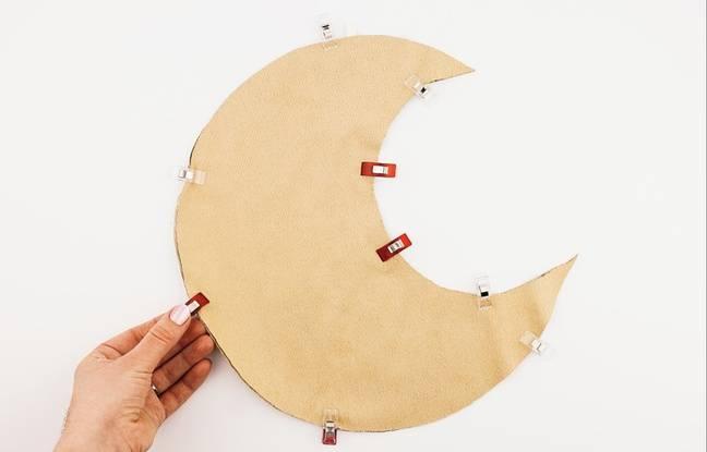 diy comment fabriquer un mobile lune musical pour son b b. Black Bedroom Furniture Sets. Home Design Ideas