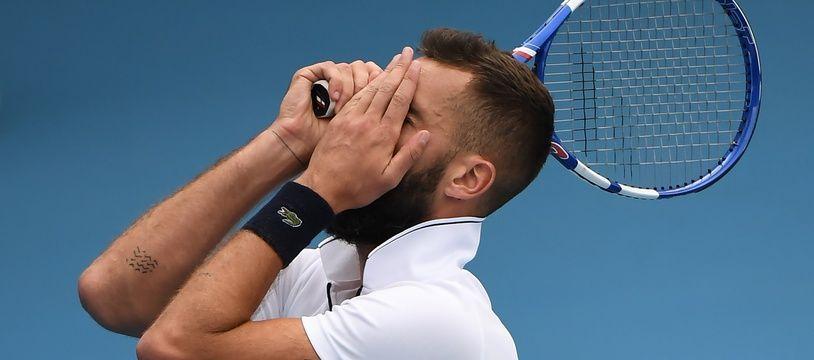 Benoît Paire (ici photographié à Melbourne) a été éliminé de l'Open 13 après s'être énervé contre le public marseillais.