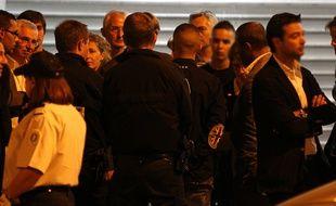 Hicham Ouakki et Driss Arab, les jeunes deux suspects présumés dans la mort de l'etudiant Jeremy Roze, ont participe a la reconstitution du meurtre dans la Grande rue St Michel, le 17 septembre 2012.