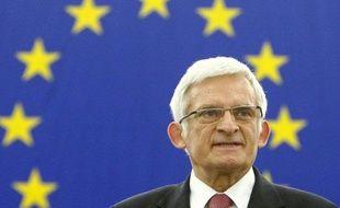 Le nouveau président du Parlement européen, le Polonais Jerzy Buzek, le 14 juillet 2009 à Strasbourg.