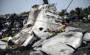 Des restes du Boeing du vol MH17, près de Grabove le 26 juillet 2014