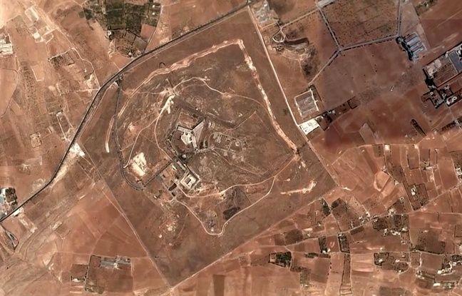 La prison de Saydnaya vue du ciel.