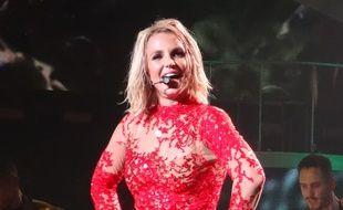 Britney Spears sur scène à Las Vegas en octobre 2015.
