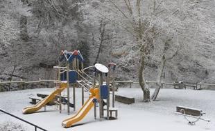 De la neige à Bourgoin Jallieu, le 23 janvier 2019.