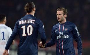 Zlatan Ibrahimovic et David Beckham