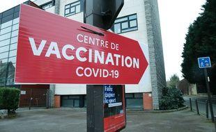 Un centre de vaccination, à Douai le 16 janvier 2021.