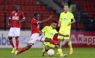 Des joueurs du Standard de Liège (en rouge) lors d'un match contre Molde, le 27 août 2015.