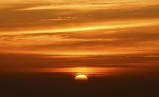 Un lever de soleil en Californie.