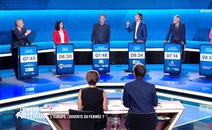 Capture d'écran du débat sur l'élection européenne organisé le 22 mai sur France 2.