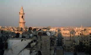 Une mosquée à Alep (nord de la Syrie) le 22 août 2013