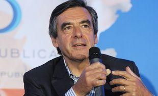 François Fillon à Rouez-en-Champagne (Sarthe), le 27 août 2014.