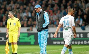 Foued Kadir a été sorti par Elie Baup à Lille, dimanche, dès la 49e minute.