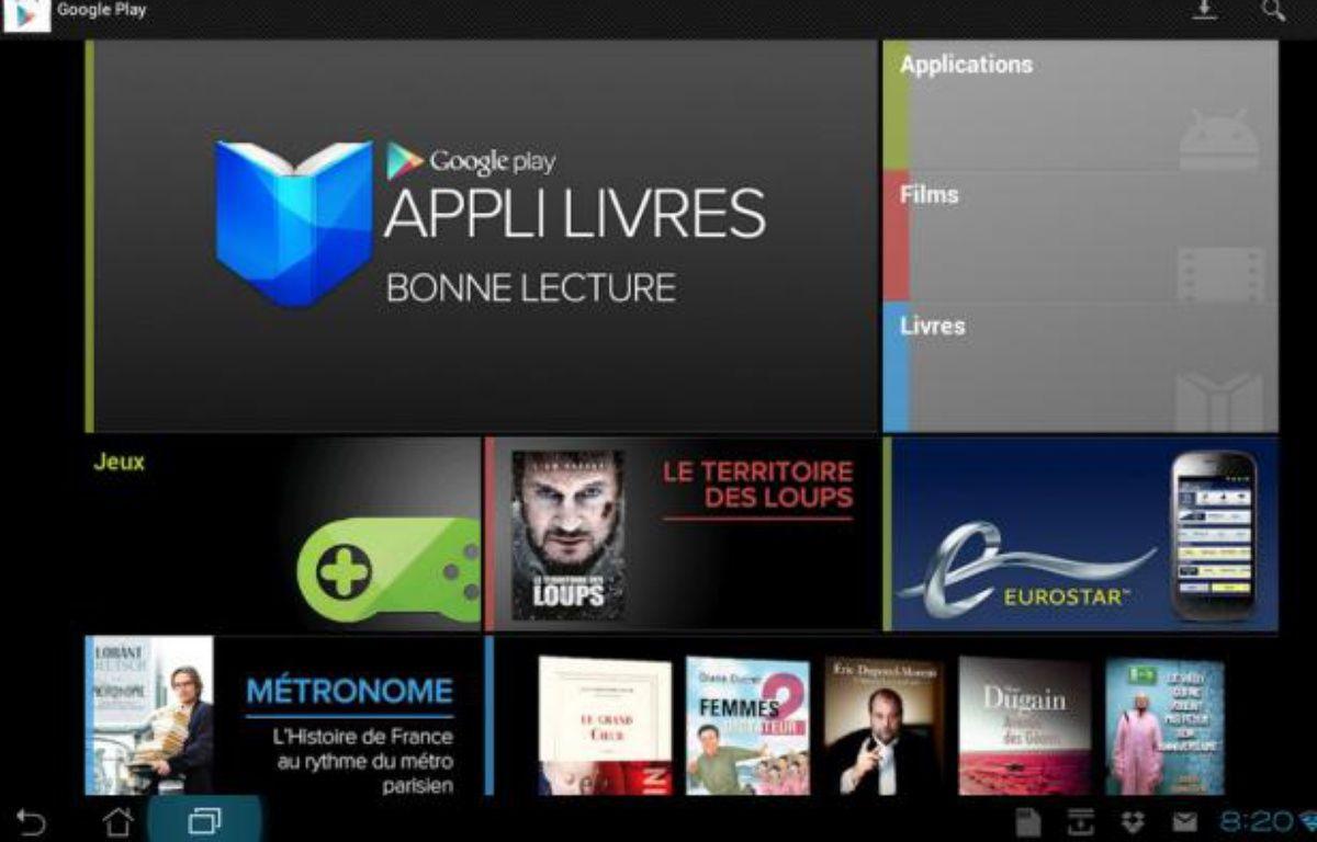 Google Play Livres est disponible en France dès ce mercredi 18 juillet 2012. – google