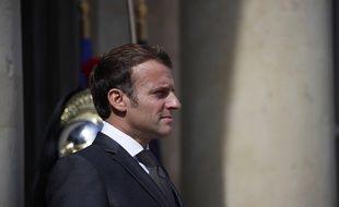 Emmanuel Macron à l'Elysée, le 23 juillet 2020.