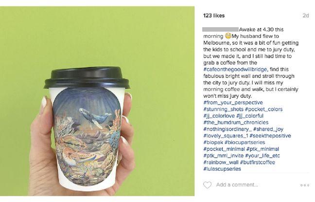 Capture d'écran du compte Instagram de la jeune femme qui a commenté le procès pour meurtre auquel elle participait comme jurée.