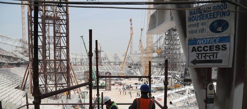 Le chantier du stade Al-Wakrah au Qatar, le 6 février 2018.