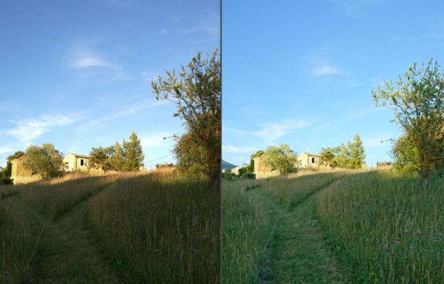 L'optique du Huawei P9 (à gauche), moins lumineuse que celle du Sony Xperia X (à droite).