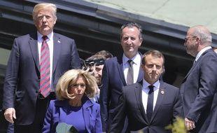 Emmanuel Macron et Donald Trump sont arrivés à La Malbaie, au Québec, pour le G7, le 8 juin 2018.