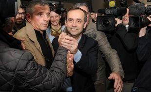 Robert Ménard à Béziers, ville dans laquelle il a remporté les municipales, le 30 mars 2014