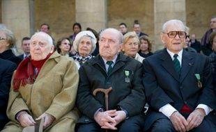 Louis Cortot (au centre), était l'un des derniers Compagnons de la Libération.