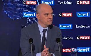 Jean-Michel Blanquer au micro d'Europe 1/Les Echos/Cnews dimanche 16 décembre.