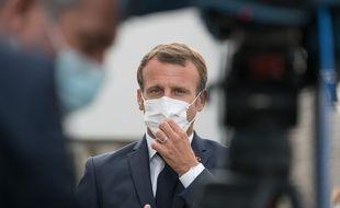 Emmanuel Macron à Bracieux le 22 septembre 2020.