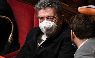 Jean-Luc Mélenchon, le février 2021 à l'Assemblée nationale.