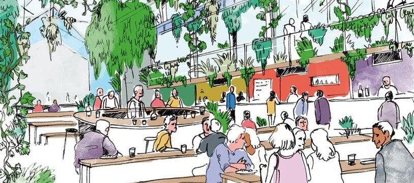 Voilà ce à quoi pourrait ressembler le food hall de Nantes