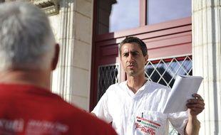Francois Ruffin, candidat de la France insoumise aux élections législatives le 15 juin 2017 dans la Somme.
