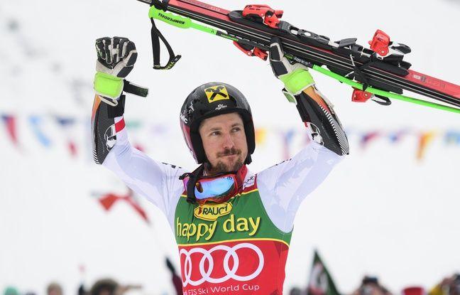 L'Autrichien Marcel Hirscher remporte le slalom et s'assure un 7e Gros globe de cristal
