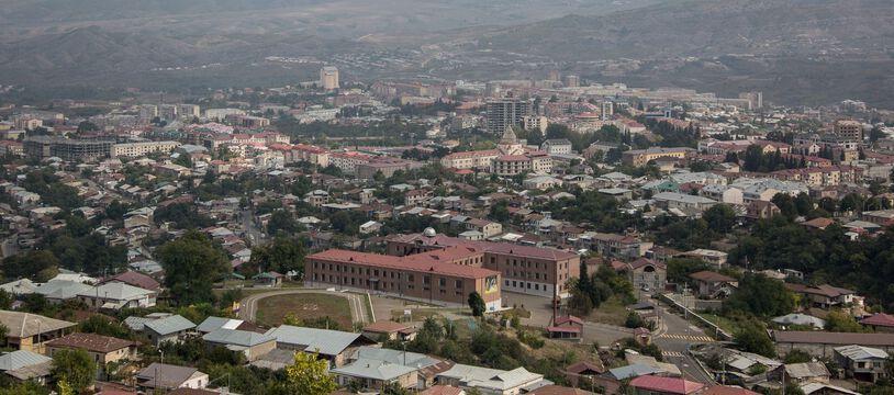 La région du Karabakh à la frontière entre l'Azerbaïdjan et l'Arménie, où des combats ont lieu en ce moment.