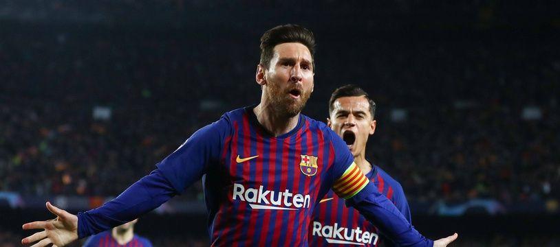 Lionel Messi a inscrit un doublé lors de Barça-Manchester United en quart de finale retour de Ligue des champions, le 16 avril 2019.