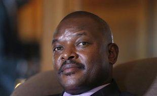 Le président du Burundi, Pierre Nkurunziza, à l'hôtel Westin Paris-Vendôme, le 4 juin 2014