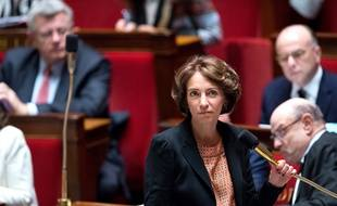 Health Minister, Marisol Touraine at the weekly session of the questions to the government ( questions au gouvernement ) at French parliament ( Aseemblee Nationanle ) . Paris, FRANCE - 16/12/2014./CHAMUSSY_lcham039/Credit:CHAMUSSY/SIPA/1412162110