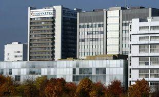 Le siège du géant pharmaceutique Novartis à Bâle, le 27 octobre 2015