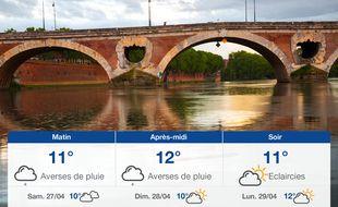 Météo Toulouse: Prévisions du vendredi 26 avril 2019