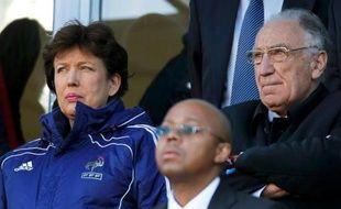 Roselyne Bachelot et Jean-Pierre Escalettes, le 22 juin 2010, lors de France-Afrique du sud.