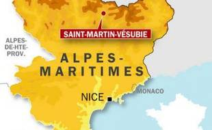 Carte de localisation de Saint-Martin-Vésubie.