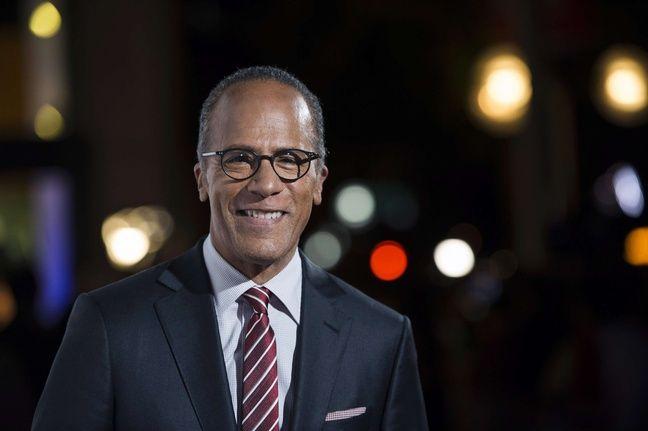 Lester Holt, le présentateur de la chaîne de télévision NBC qui animera le premier débat entre Clinton et Trump le 26 septembre 2016.
