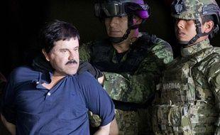 Joaquín Guzmán, le 8 janvier 2016, lors de son arrestation par les forces spéciales mexicaines