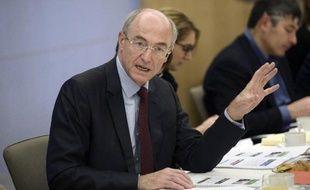 Benoît Potier, PDG d'Air Liquide, présente les résultats 2014 du groupe, le 17 février 2015 à Paris