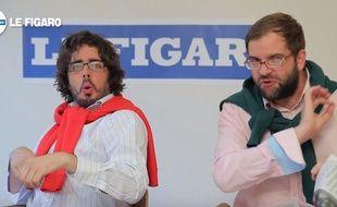 Eric Metgzer et Quentin Margot dans une vidéo promo pour le film «Bad Buzz» dans lequel ils jouent les rôles principaux.