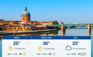 Météo Toulouse: Prévisions du lundi 10 août 2020