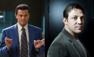 Leonardo DiCaprio dans Le Loup de Wall Street, et Jordan Belfort.
