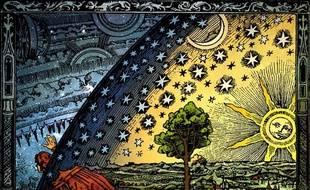 L'Univers, gravure anonyme du XIXe siècle.
