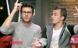 Cyprien et Squeezie, dans une vidéo présentant Video City Paris, le premier salon français des YouTubeurs.