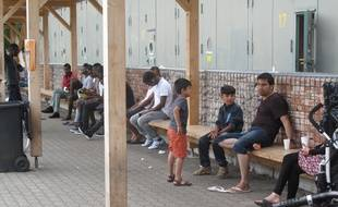 A la Bayern Kaserne, le plus grand centre de réfugiés de Bavière, situé au nord de Munich.